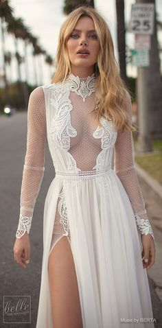 MUSE by BERTA Spring 2019 Wedding Dresses - City of Angels Bridal Collection   Long sleeve wedding dress   Unique vintage bridal gown   A line boho bridal dress   #weddingdress #weddingdresses #bridalgown #bridal #bridalgowns #weddinggown #bridetobe #weddings #bride #weddinginspiration #weddingideas #bridalcollection #bridaldress #fashion #dress See more gorgeous bridal gowns by clicking on the photo