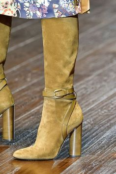 The Best Shoes, Bags, and Baubles on the 2015 Runways -- Gucci Spring 2015 Ugg boots give them to me now and I mean now because if my friends saw me wearing them they would freak out. All my friends love bows and what a perfect way to ugg-onsale. Ugg Boots, Bootie Boots, Shoe Boots, Ankle Boots, Me Too Shoes, Gucci Spring, Mocassins, Pumps