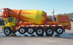 Concrete mixer - Wikipedia, the free encyclopedia Heavy Duty Trucks, Big Rig Trucks, Cool Trucks, Semi Trucks, Mix Concrete, Concrete Mixers, Cement Mixer Truck, Oil Platform, Heavy Machinery