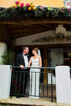 The bride in a @m_lhuillier wedding dress | Brides.com