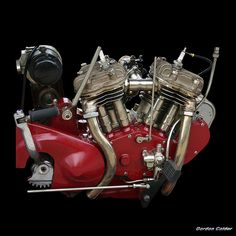 NO 28: VINTAGE 1925 INDIAN SCOUT MOTORCYCLE ENGINE by Gordon Calder, via Flickr