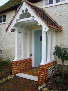 Hardworking enhanced entrance porch design Get results now Porch Uk, Front Door Porch, Cottage Porch, House With Porch, House Front, Porch Designs Uk, Simple Porch Designs, Car Porch Design, House Design