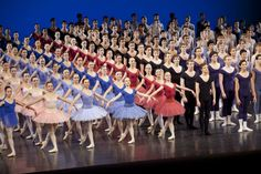 The Royal Academy of Dance students in their Grand Defile