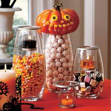 Halloween fun! Clearly Creative Votive Trio: Create a custom display with light and glass. Follow at: www.partylite.biz/jenhardy www.facebook.com/partyhardyjen #jenhardyyourcandlelady