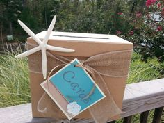 Card box I made for my daughter's beach themed wedding