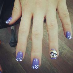 Nail fashion for the ladies! #ravens #purplepride