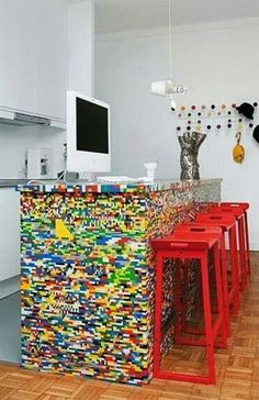 LEGO desk // Epic! #lego #lego_kitchen_bench