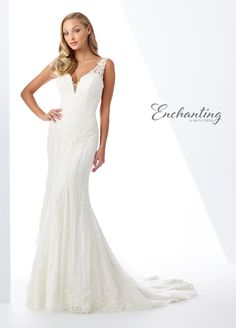 Enchanting by Mon Cheri 119105 The fabric in this Enchanting by Mon Cheri style is Embroidered Schiffli Lace, Tulle and Beading Bridal Dresses, Wedding Gowns, Bridesmaid Dresses, Prom Dresses, Wedding Hair, Mon Cheri Bridal, High Fashion Dresses, Fit And Flare Wedding Dress, Dress Hairstyles