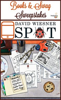 LOVE HIM!! David Wiesner Sweepstakes: 1 Spot tote bag, 1 Spot Notebook, and 3 David Wiesner's books: Art and Max, Flotsam, and Mr. Wuffles.