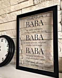 Glad to you this article from my shop to present: Islam, Baba, Anne, Father's Day, Babalar Islamic Quotes, Cute Gifts, Diy Gifts, Daddy Birthday Gifts, Birthday Candy, Islamic Wall Art, Happy Birthday Images, Gifts For Dad, Cool Words