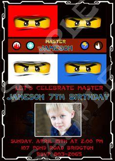 Ninjago Birthday party invitation.