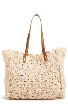 Trina Turk Oasis Barbados Tote 188 Liked On Polyvore Featuring Bags Handbags White Bag Han