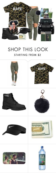 """""""..."""" by childofshakur ❤ liked on Polyvore featuring A BATHING APE, Timberland, Mercedes-Benz, NIKE and Royce Leather"""