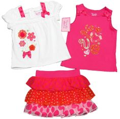 NANNETTE Toddler Girls White Peasant Shirt Pink Tank Top & Ruffled Scooter Set Available in toddler sizes 2T to 4T and girl's sizes 5 to 6X