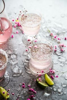 Pink Champagne Margaritas are a pretty cocktail perfect for any celebration or happy hour! | alcoholic drinks | drinks | cocktails | summer cocktails | champagne cocktails | tequila drinks | triple sec drinks | Pink Champagne Margarita, Sparkling Lemonade, Pink Lemonade, Fun Drinks, Beverages, Tequila Drinks, Alcoholic Drinks, Classic Girl, Best Side Dishes