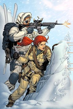 G.I. joe - Snowjob and Scarlett by Robert Atkins, colours by Simon Gough
