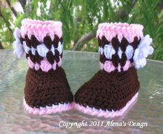 Crochet  Toddler ... by AlenaByers   Crocheting Pattern - Looking for your next project? You're going to love Crochet  Toddler Brown Booties by designer AlenaByers. - via @Craftsy