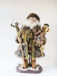 Santa Doll Nutcracker Santa ooak Handcrafted di WaltCarterSantas
