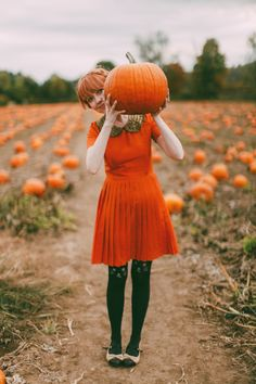 Pumpkin Picking dress and the Kitty stockings!!