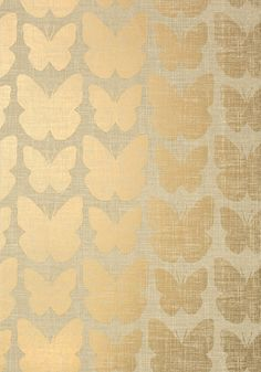 Aldora - Metallic Gold wallpaper, from the Geometric Resource 2 collection by Thibaut Gold Wallpaper, Butterfly Wallpaper, Fabric Wallpaper, French Wallpaper, Shop Interior Design, Interior Decorating, House Design, Decorating Games, Design Shop