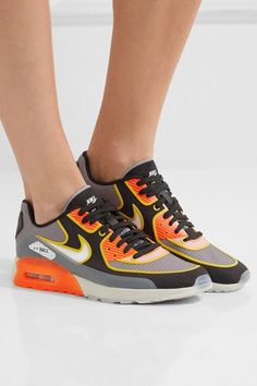 Nike - Air Max 90 Ultra 2.0 Si Textured-knit Sneakers - Gray - US