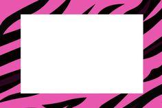 Zebra Pink Fundo Limpo – Kit Completo com molduras para convites, rótulos para guloseimas, lembrancinhas e imagens!  Fazendo a Nossa Festa