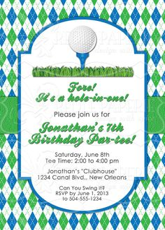 Golf party invitations postcard golf golf party and posts filmwisefo Choice Image