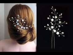 Easy DIY Bridal Gold Leaves Hair Vine Pins Bridal Hair Tutorial Hair Vine, Wire beads Como hacer - YouTube