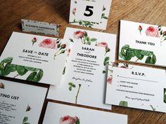 Printable Wedding Invitation Kit - Vintage Roses