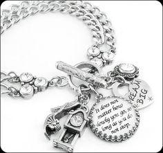 Inspirational Bracelet Silver Inspirational by BlackberryDesigns