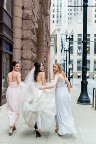 Chicago Glamour at the Rookery Building - Style Me Pretty Amsale Bridesmaid, Neutral Bridesmaid Dresses, Bridesmaids, Bridal Gowns, Wedding Gowns, Neutral Wedding Colors, Wedding Photo Inspiration, Wedding Images, Wedding Ideas