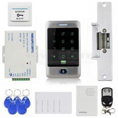 77.61$  Watch here - http://ali49i.worldwells.pw/go.php?t=32688604771 - DIYKIT 125KHz RFID Reader Password Keypad + Strike Lock + Door Bell + Remote Control Door Access Control Security System Kit
