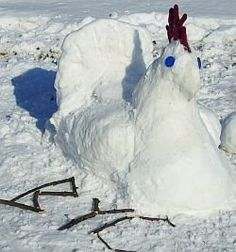 Snow chicken, I hope we have enough snow this year......I will soooo do this!