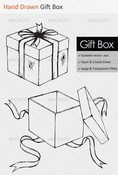 Hand Drawn Gift Box #GraphicRiver