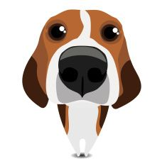 Funny sad beagle vector art illustration