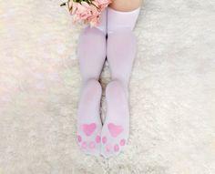 2205d5361 KITTEN PLAY LINGERIE - thigh-high white kitten play gear