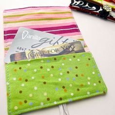 Gift Card Holder Tutorial also for Business Cards by tiedyediva