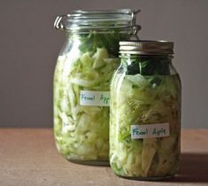 Apple-Fennel Sauerkraut with Caraway -- looks yum!