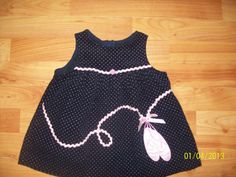 Baby Girls Navy Blue Pink RARE Editions Ballerina Jumper Dress Size 12 Months | eBay