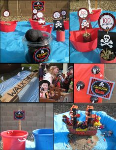 PIRATE PARTY GAMES - Boys Birthday Party - Pirates of the Caribbean - Girls Party - Krown Kreations & Celebrations