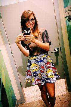 Nerd skirt from Rue21 :)