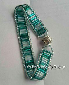 Right angle weave bracelet with austrian crystals by ollie – Artofit Bead Loom Bracelets, Beaded Bracelet Patterns, Woven Bracelets, Jewelry Bracelets, Jewlery, Bead Jewellery, Seed Bead Jewelry, Jewelry Crafts, Handmade Jewelry