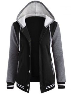 GET $50 NOW | Join RoseGal: Get YOUR $50 NOW!http://m.rosegal.com/jackets/contrast-sleeve-fleece-baseball-hoodie-785737.html?seid=6909324rg785737
