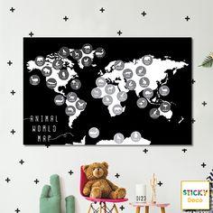 Χάρτης για Παιδικό Δωμάτιο!  Αυτοκόλλητος χάρτης σε μοντέρνο χρωματισμό. Έξυπνη πρόταση διακόσμησης. Wall Decor, Decoration, Wall Hanging Decor, Decor, Decorations, Decorating, Wall Decorations, Dekoration, Ornament