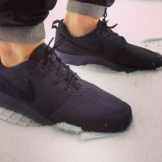 Roshe run woven black....now I need to find the denim to go with them to roll them that way....