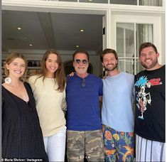 Family first:Maria added her own sweet tribute to her ex husband, sharing another photo f... Maria Shriver, Lifting Motivation, Fitness Motivation, Ex Husbands, Dads, Arnold Schwarzenegger Muscle, Fitness Diet, Health Fitness, Body Building Men