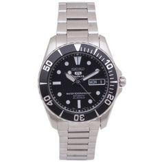Seiko Men's SNZF29 Stainless Steel Analog with Black Dial Watch Seiko. $154.38. Case diameter: 40 mm. Scratch resistant hardlex. Japanese automatic movement. Stainless steel case. Water-resistant to 50 M (165 feet)