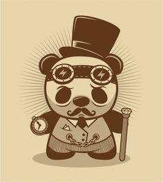 Patch Together :: Designs :: steampunk panda