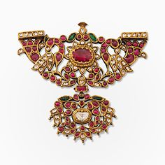 #A Period Gemset Padakkam Pendant, #Jewels from South India | Saffronart.com