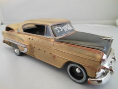 1953 Chevrolet Bel air 1/24 scale model car in yellow. here my car!! one day, one day...
